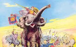 """""""Khi ra trận, Bà Triệu thường mặc áo giáp, cài trâm vàng, đi guốc ngà, cưỡi voi"""""""
