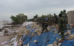 200 bộ đội gia cố đê biển chống bão số 9 ở miền Tây