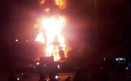 Cháy dữ dội tại một cây xăng ở TP Nha Trang