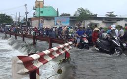 Trên đường đi làm thêm về nhà, nam sinh trường ĐH Sài Gòn bị nước cuốn mất tích