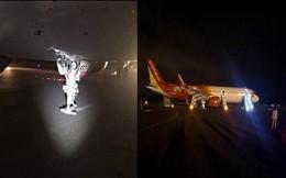 Vụ máy bay Vietjet gặp sự cố: 2 bánh trước bị mất trong quá trình hạ cánh