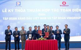 VinFast tiếp tục bắt tay Petrolimex xây dựng mạng lưới trạm sạc dày đặc cho xe điện