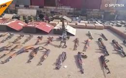 Video: Xem kho vũ khí quân đội Syria vừa tịch thu có cả máy bay trinh sát