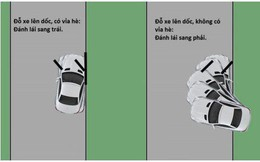 Đâu là cách đỗ xe trên đường dốc an toàn nhất?