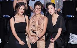 Thu Phương khoe em gái nổi tiếng, Phạm Quỳnh Anh mặc gợi cảm đến ủng hộ Hà Tăng