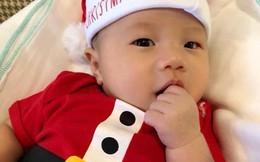 Nhân ngày Giáng sinh, vợ chồng Đinh Ngọc Diệp - Victor Vũ khoe ảnh quý tử đầu lòng gần 3 tháng tuổi cực đáng yêu