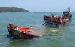 Tàu chở hàng bị chìm, ước tính thiệt hại hàng trăm triệu đồng