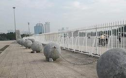 Vì sao di dời những quả cầu xích ở sân Mỹ Đình trước trận Việt Nam - Philippines?