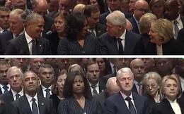 """Bức ảnh trước-sau đắt giá và nỗi cô đơn tận cùng của """"sư tử"""" Trump giữa lễ tang đầy nước mắt"""