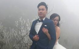 """Cô dâu """"dũng cảm"""" nhất năm: Mặc váy hở vai chụp ảnh cưới giữa băng tuyết Sapa"""