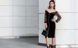 Kim Tuyến ăn mặc quyến rũ, sang chảnh đi dạo phố dịp cuối năm
