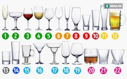 Đừng là người ít hiểu biết khi không phân biệt được ly nào uống sâm panh, ly nào uống rượu