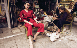 MC Phí Linh đón xuân trong từng góc phố Hà Nội