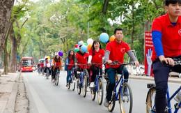 """Nhiều bạn trẻ xuống đường đạp xe nhân ngày """"Thế giới phòng chống ung thư"""""""
