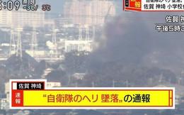 Nhật Bản: Trực thăng quân sự rơi, nhà dân bốc cháy dữ dội