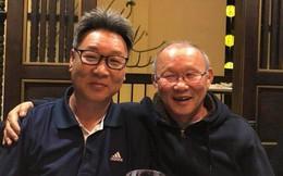 """HLV Park Hang Seo ăn tối cùng """"sư phụ thứ 2"""" của Hoàng Xuân Vinh"""