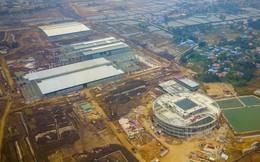 Toàn cảnh đại công trường xây dựng nhà máy VinFast trong lòng khu công nghiệp Đình Vũ