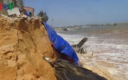 Bình Thuận: Dân lo sợ biển xâm thực làm sập nhà gây chết người