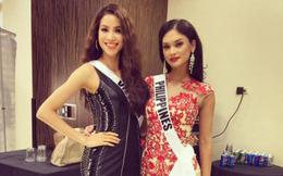 Miss Universe 2015 vẫn quan tâm Phạm Hương sau nghi vấn không ưa nhau