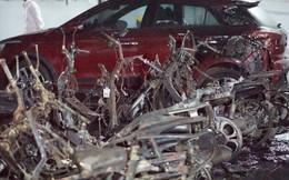 Hình ảnh xe Mercedes đắt tiền cháy nham nhở ở tầng hầm chung cư Carina