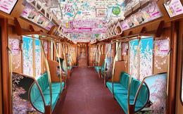 Chuyến tàu hoa anh đào có một không hai tại Nhật Bản: May mắn lắm mới lên được, nghìn chuyến chỉ có 1 khoang đẹp như mơ