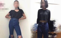 """Order quần jean ống loe bắt """"trend"""" trên mạng, cô gái diện vào rồi đứng lên cả ghế mới vừa"""