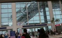 Gió mạnh xé toạc mái che sân bay Trung Quốc