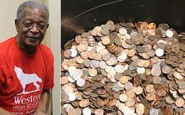 """45 năm nhặt xu đánh rơi, góp từng đồng lẻ, cụ ông khiến cho ngân hàng ngỡ ngàng với """"gia tài"""" ông đang sở hữu"""