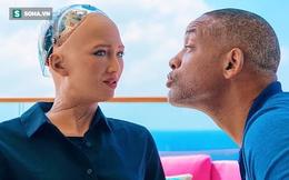 Hẹn hò với nữ robot Sophia, tài tử Will Smith chưng hửng vì bị đối phương hờ hững