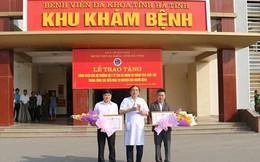 Bộ trưởng Bộ Y tế tặng bằng khen cho 2 cá nhân hiến máu cực hiếm cứu người