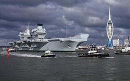 Ảnh: Tàu sân bay mạnh nhất hải quân Anh ra khơi với máy bay quân sự