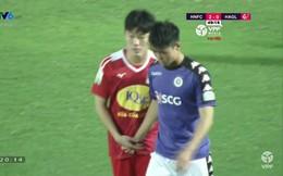 Đây là hình ảnh của cầu thủ U23 Việt Nam nhận nghìn like trong trận Hà Nội gặp HAGL