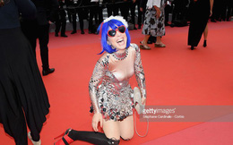 Thảm họa thảm đỏ Cannes: Mỹ nữ vô danh lăn lộn, trườn bò khoe thân để gây chú ý