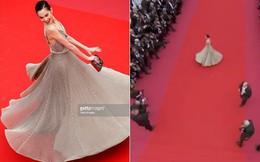 """Thảm đỏ Cannes 2018: Mỹ nhân Nhật gây hoang mang với màn tạo dáng """"có 1 không 2"""""""
