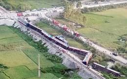 Hiện trường vụ tai nạn tàu hỏa kinh hoàng làm 2 người chết, 8 người bị thương ở Thanh Hóa