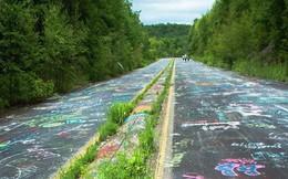 Mãn nhãn con đường graffiti nổi tiếng ở Mỹ nhìn từ không trung