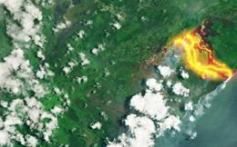 Núi lửa phun trào cực mạnh ở Hawaii, dung nham có thể được nhìn thấy từ ngoài vũ trụ