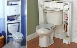 Phòng tắm nhỏ đến mấy cũng vẫn gọn gàng nhờ mẹo lưu trữ thông minh này
