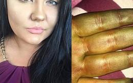 Sử dụng sản phẩm nhuộm da tạm thời, cô gái bỗng đổi màu sang xanh lá cây như người khổng lồ xanh Hulk