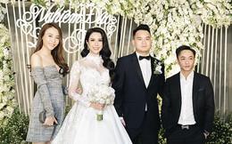 Cường Đô la hộ tống Đàm Thu Trang, Diệp Lâm Anh hạnh phúc hôn chồng