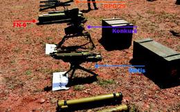 Phiến quân giao nộp tên lửa, súng máy cho QĐ Syria: Vũ khí Trung Quốc cũng góp mặt