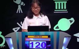 """Nữ sinh đầu tiên giành điểm tuyệt đối tại vòng """"Khởi động"""" trong 18 năm phát sóng cuộc thi Olympia"""