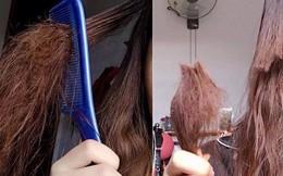 Góc bất lực: Cô gái cả tuần không gội đầu khiến tóc bết tới mức đành phải dùng kéo cắt luôn cả cụm