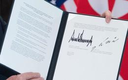 Thỏa thuận chung Mỹ-Triều: Ông Kim cam kết phi hạt nhân hóa, ông Trump cam kết đảm bảo an ninh cho Triều Tiên