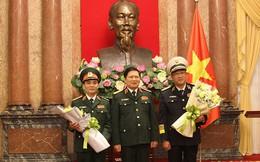Chủ tịch nước trao quyết định thăng quân hàm Thượng tướng và Phó Đô đốc cho sỹ quan cấp cao QĐND Việt Nam