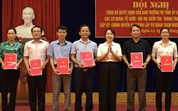 Công bố quyết định hợp nhất một số cơ quan đảng - chính quyền