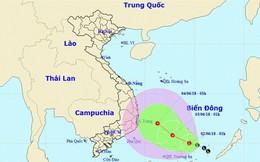 Áp thấp trên biển đang mạnh lên thành áp thấp nhiệt đới