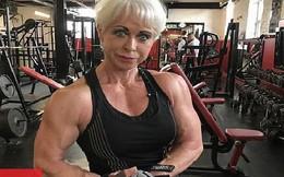 Nữ vận động viên thể hình U70 với cơ bắp cuồn cuộn như đàn ông