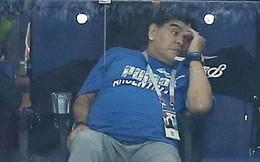 Biểu cảm của 'cậu bé vàng' Maradona khi Argentina thua Croatia cay đắng