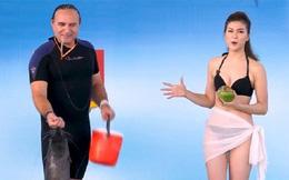 Vẻ ngoài nóng bỏng của MC mặc bikini lên sóng truyền hình